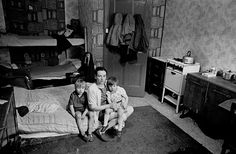Overcrowded: Bunks in the recess, a mattress on the floor, this photo shows a mother livin...