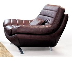 Riviera Channel Stitched Leather Chair w Color Choices - Wonder how comfortable that is ....