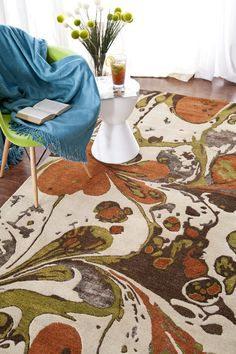 This Banshee rug from Surya makes a beautiful statement in any room. I love this rug!