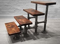 live edge furniture, tables, desks, benches, reclaimed wood furniture