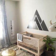 """babyletto on Instagram: """"✨this mama's got monochrome moves 🖤 loving the mix of prints! • #babyletto Hudson crib • 📷: designed by mama @thepaperwildflower 👏"""""""