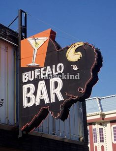 Buffalo Bar Neon Sign - Sparks, NV