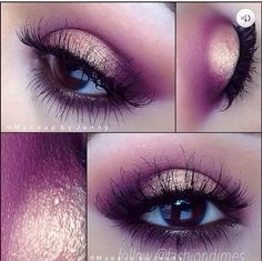 Love the colors, shimmery and smokey eye <3
