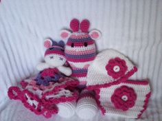 Baby Shower Gift Set Crochet Giraffe Stuffed by NikkisCraftShoppe, $56.00