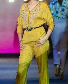 Yellow caftan jumpsuit