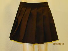 Dark Brown Plaid Pleated Skirt~Cosplay Brown skirt Small to Plus size skirt~Choc