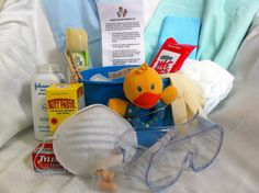 soo cute daddy diaper duty survival kit