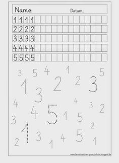 hier nochmal 8 selbsterklärende Arbeitsblätter, auf denen die Ziffern von 1 bis 5 und dann von 6 bis 0 wiederholt werden (wie immer n...