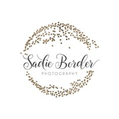 Glitter Circle Logo - Premade Photography Logo and Watermark Design - Photography or Boutique Logo - Business Branding Photography Business Cards, Photography Logos, Watermark Design, Logo Design, Drawing Blood, Flower Logo, Boutique Logo, Hand Logo, Circle Logos