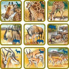 Pexetrio Plus Africká savana File Folder Activities, Forest Theme, Animal Activities, Bible Crafts, Animals For Kids, Wild Animals, Exotic Pets, Kids Gifts, Mammals