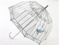 i adore this! <3 fulton x lulu guinness birdcage umbrella
