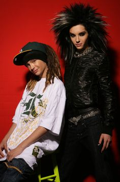 The Kaulitz twins from Tokio Hotel. Back in the day.