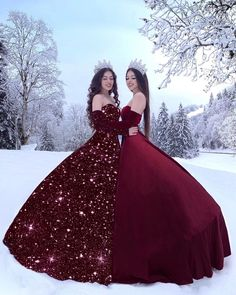 Left or Right . 🖤 Tag your Princess 👯♀️💫 Glitter dress is just an edit 💖 Ombre Prom Dresses, Cute Prom Dresses, Quinceanera Dresses, Ball Dresses, Pretty Dresses, Ball Gowns, Evening Dresses, Sweet 15 Dresses, Quinceanera Decorations