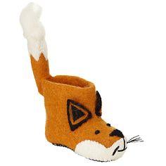 Buy Sew Heart Felt Finlay Fox Slippers, Orange Online at johnlewis.com
