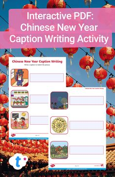 This interactive caption writing activity is a great way to explore Chinese New Year with your class. Your students need to think of a sentence describing the picture, then write it in the box. Write straight onto the interactive PDF, making this a paperless activity! Sign up to Twinkl to download and access thousands of handy teaching resources. #chinesenewyear #cny #interactivepdf #pdf #interactiveteachingresources #teachingresources #twinkl #twinklresources #homeschooling #homeeducation Interactive Activities, Writing Activities, Teaching Resources, New Year Captions, Writing Practice, Chinese New Year, Sentences, Homeschooling, Encouragement