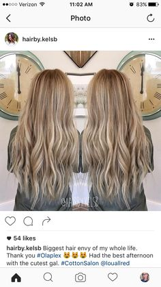 Dirty blonde balayage