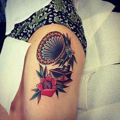 blackgardentattoo:  Tattoo by our guest @kirk_jones —- #tattoo…