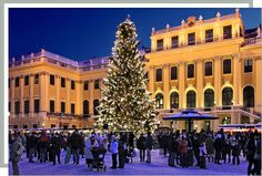 Christmas Market at Schönbrunn Palace, Vienna, Austria - http://www.schoenbrunn.at/en/services/media-center/photo-gallery.html