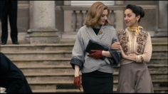 The Hour, Romola Garai as Bel Rowley and Oona Chaplin as Marnie Madden #topvintage