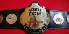 World ECW Wrestling Championship Belt Thick Plated Adult size Replica Belts - TheLeatherAble Ecw Wrestling, World Heavyweight Championship, Handmade Leather Shoes, Professional Wrestling, Brass Metal, The Ordinary, Real Leather, Belts, Plating