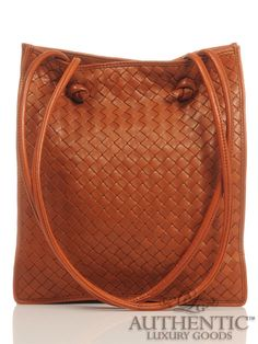cb85ba6c8151 Bottega Veneta Burnt Orange Rust Brown Cross Weave Leather Shoulder Handbag