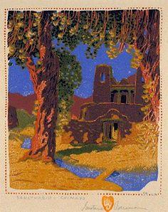 Gustave Baumann (1881-1971), Santuarion—Chimayo, 1924, woodcut.