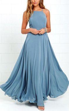 Mythical Kind Of Love Slate Blue Maxi Dress