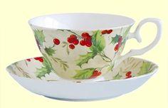Christmas Tea Cups Holiday Mugs and Teapots Tea Favors Christmas Tea Party, Christmas China, Christmas Cup, Christmas Dishes, Christmas Dinnerware, Christmas Ideas, Tea Cup Saucer, Tea Cups, Tea Favors