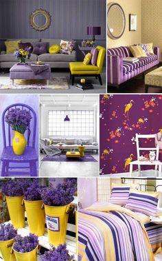 Inspiração: Colorindo a casa: Roxo e Amarelo!