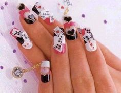 Playing Card Nails , these are too adorable! .