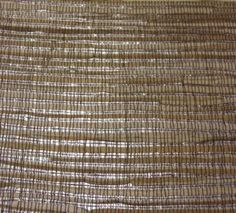 Metallic Silver and Tan Grasscloth Wallpaper