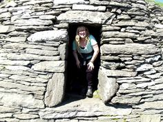 In a beehive cell on Skellig Michael, County Kerry