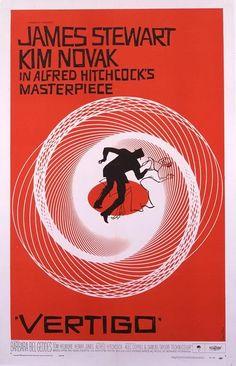 Um corpo que cai (Vertigo)  de Alfred Hitchcock - 1958  Poster por Saul Bass