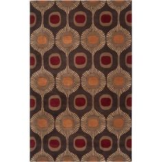 Art of Knot Macon Hand Tufted Wool Area Rug, 5' x 8', Brown