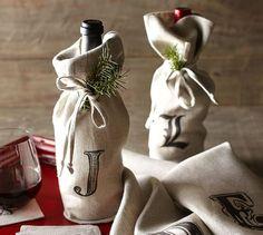 Textured Linen Wine Bag | Pottery Barn