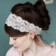 Pretty headbands and head coverings. The lace are my favorite!