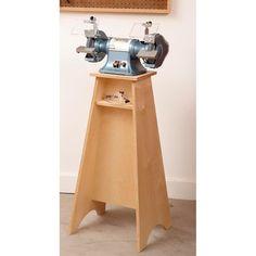 Grinder Grand Stand Woodworking Plan from WOOD Magazine.......om te polijsten op sta niveau