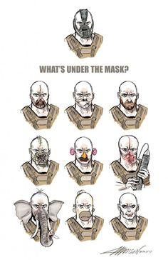 Y'à quoi sous le masque de Bane