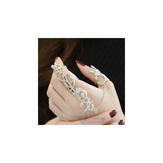 Rhinestone Ring ($9.90) ❤ liked on Polyvore featuring jewelry, rings, kid fashion, women, rhinestone rings and rhinestone jewelry