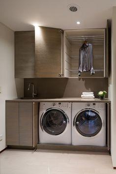 compact laundry design - Google Search