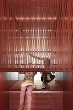 Stair, SMAK architects, red, Playground