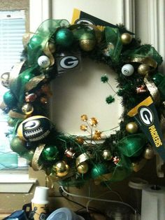 Image detail for -Green Bay Packers Wreath The number 1 team right now | Wreath ... love green bay
