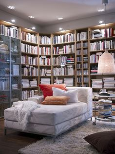 Super home library ikea inspiration Ideas Ikea Inspiration, Apartment Inspiration, Ikea, Home, Living Room Inspiration, Home Library, Bedroom Design, Trendy Home, Apartment Decor