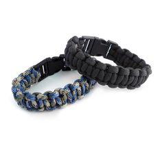 Paracord Snap Buckle Bracelet // Set of 2