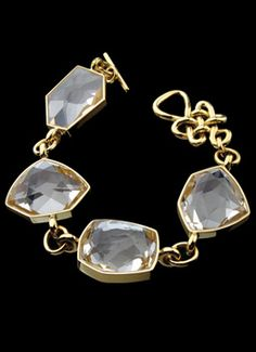 H.Stern Diane von Furstenberg Rock Crystal Bracelet in 18K yellow gold at London Jewelers!