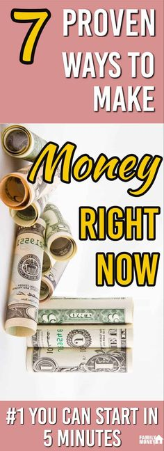 Here are 7 PROVEN ways to make money that you can get started on quickly. | Making Money | Earn extra money | via @familymoneyplan