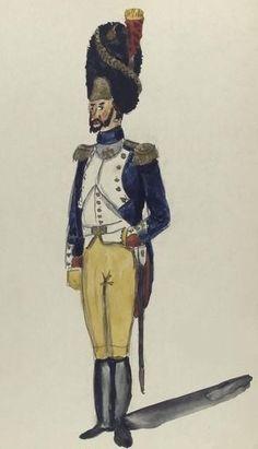 Regimiento de Granaderos de la Guardia de Jose Bonaparte. España 1810 Oficial