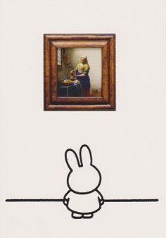 Dick Bruna - Nijntje Voor Het Melkmeisje (Vermeer) - (Postkaart)