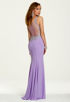 Illusion Beaded 1 Shoulder Dress from Camille La Vie and Group USA