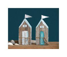 Deko-Objekte - Sommer - Deko 2 x Strandhaus aus Holz -  Holzhaus - ein Designerstück von uggla-deko bei DaWanda
